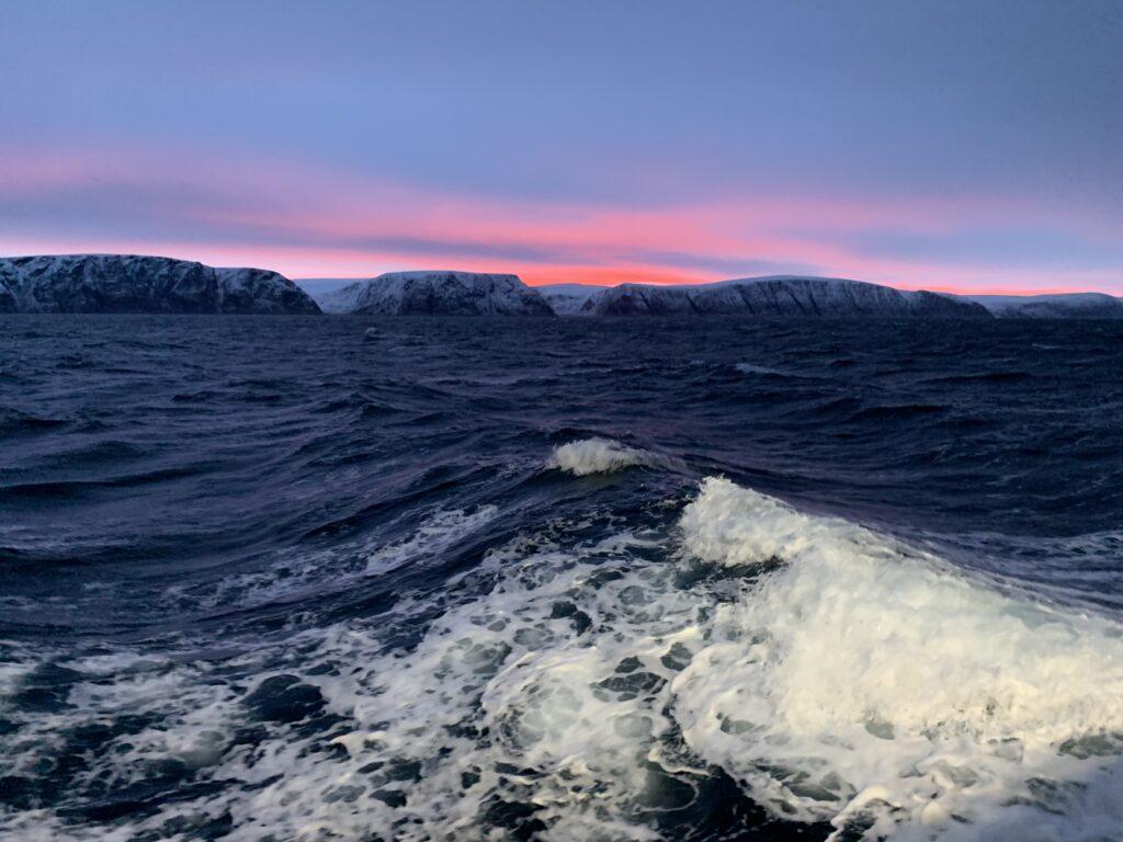 Wavy in Porsangerfjorden, Finnmark